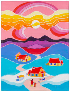 Ted Harrison, 'Beautiful Day', 1989
