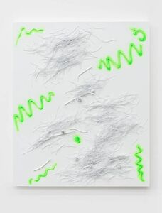 Yang Xinguang 杨心广, 'Above the Soil (Fluorescent Green No. 3)', 2019