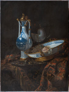 Willem Kalf, 'Still life with Ewer and Basin, fruit, Nautilus Cup and other object', ca. 1600