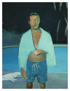 Jonathan Wateridge, 'Late Swim', 2019