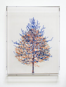 Charles Gaines, 'Numbers and Trees, Tiergarten Series 3: Tree #2, May', 2018