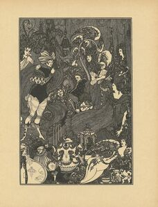 "Aubrey Beardsley, '""The Cave of Spleen"" printed in The Rape of Lock, by Alexander Pope', ca. 1896"