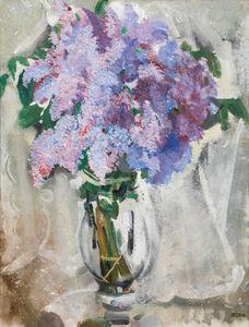 Max Oppenheimer, 'Lilac bouquet ', 1933
