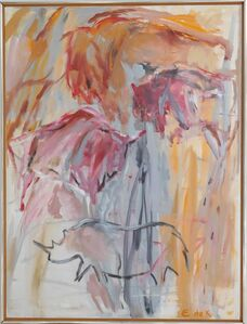 Elaine de Kooning, 'Red Oxide Grotto (Cave #175)', 1988