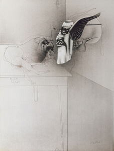 Paul Wunderlich, 'Selbst Als Maske und Anton Mit Maus', 1979