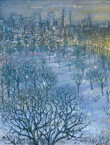 Bruno Zupan, 'Boston Public Gardens, Snowy Night', 2019