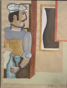 Henryk Streng/ Marek Włodarski, 'Preparatory gouache for a Man with a Syphon painting', 1926