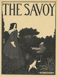 Aubrey Beardsley, 'Cover design for No. 1 of The Savoy, printed in A Book of Fifty Drawings, by Aubrey Beardsley', ca. 1897