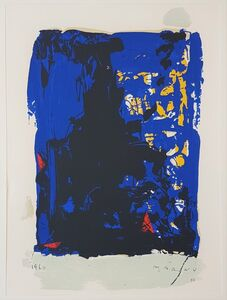 """Marino Marini, 'Fanatasy in Blue - From """"A Suite of Sixty-three Re-creations of Drawings and Sketches in Many Mediums"""" ', 1968"""