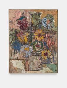 Daniel Crews-Chubb, 'Flowers (yellow, pink, green)', 2020
