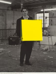 Angus Fairhurst, 'When I woke up in the morning the feeling was still there (yellow)', 1992