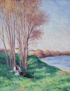 Maximilien Luce, 'Le Repos sur les Bords de la Loire à Saint-Ay', Executed circa 1910-1912