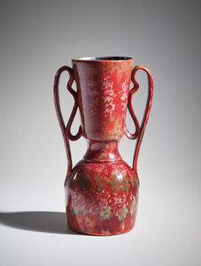 George Ohr, 'Tall two-handled vase', ca.1895