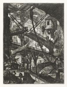 Giovanni Battista Piranesi, 'The Drawbridge, plate VII from the series Carceri d'Invenzione', 1745-printed later