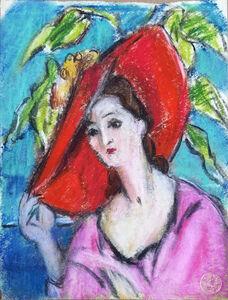 Anna Walinska, 'Self-Portrait with Hat', 1928