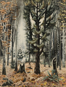 Charles Ephraim Burchfield, 'Hemlock in November ', 1947-1966