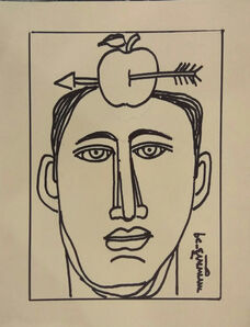 """Lalu Prasad Shaw, 'Target, Ink on Paper, Black & White colours by Modern Artist """"In Stock""""', 2017"""