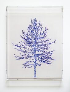 Charles Gaines, 'Numbers and Trees, Tiergarten Series 3: Tree #1, April', 2018