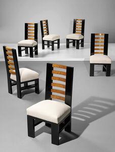Gino Levi-Montalcini, 'Set of six dining chairs', ca. 1930