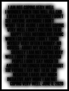 """Bruce Eves, '02 """"WORK # 1027-12: I AM NOT . . . (JUNE 8 2020)"""" ', 2020"""