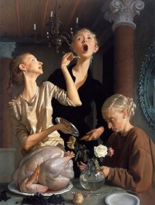 John Currin, 'Thanksgiving', 2003