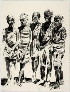 Nelson Makamo, 'Boys in Group', 2018