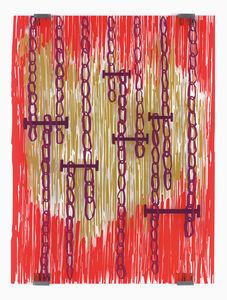 Jean-Marc Bustamante, 'Rouge et or  ', 2006