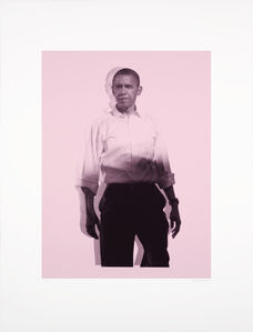 Nicola Green, 'Obama, Pink'