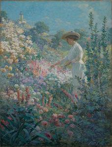Abbott Fuller Graves, 'Garden at Finisterre, Eastern Point, Gloucester, MA', 1913