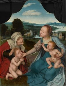Quentin Metsys (Quinten Massys), 'Virgin and Child with Saints Elizabeth and John the Baptist', 1520-1525