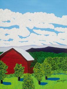 Jack Stuppin, 'Red Barn Near Livingston', 2014