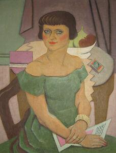 Jean Metzinger, 'Jeune femme à la robe verte et à la boite d'allumettes', 1942