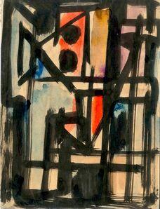 Emilio Vedova, 'Abstract composition', 1950