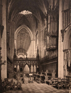 Frederick Henry Evans, 'Ely Cathedral, Choir to West from Altar', ca. 1891