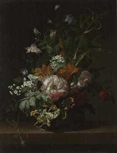Rachel Ruysch, 'Flowers in a Vase', about 1685