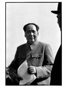 Brian Brake, 'Chairman Mao and Russian President Voroshilov at the airport, Beijing', 1959