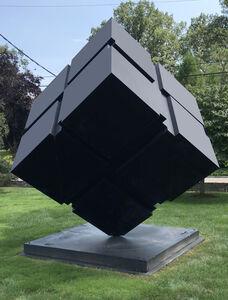 Tony Rosenthal, 'Kinetic Rotating Spinning Outdoor Monumental Minimal Black Cube', 1999