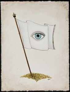 Anne Faith Nicholls, 'All-Seeing Flag - White', 2016
