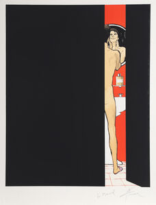 René Gruau, 'Man in Bathroom', ca. 1990