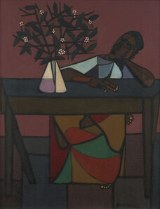 Robert Gwathmey, 'Woman at Table', ca. 1960