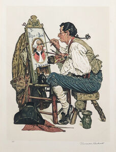 Norman Rockwell, 'YE PIPE AND BOWL', 1976