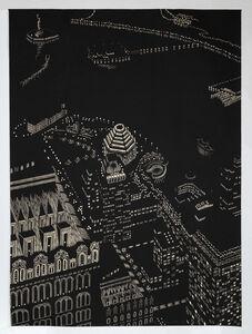 Yvonne Jacquette, 'New York Harbor Composite, Woodcut', 2003
