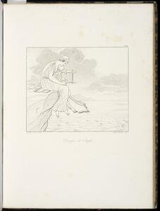 Anne-Louis Girodet-Trioson, 'D'sespoir de Sapho', 1829
