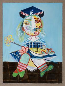 Gabriele Di Matteo, 'La fille de l'artist à deux ans demi avec un bateau (Picasso)', 2019