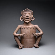 Mixtec Terracotta Incensario in the Form of a Deity