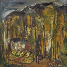 Untitled (Houses in the forest)