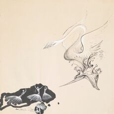 Study for Scenography and Costume for the Ballet Bacchanale