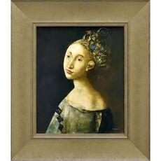Femme à la coiffe fleurie