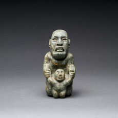 Olmec Green Stone Mother & Child