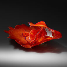 Vermilion and Orange Persian Set with Blue Lip Wraps